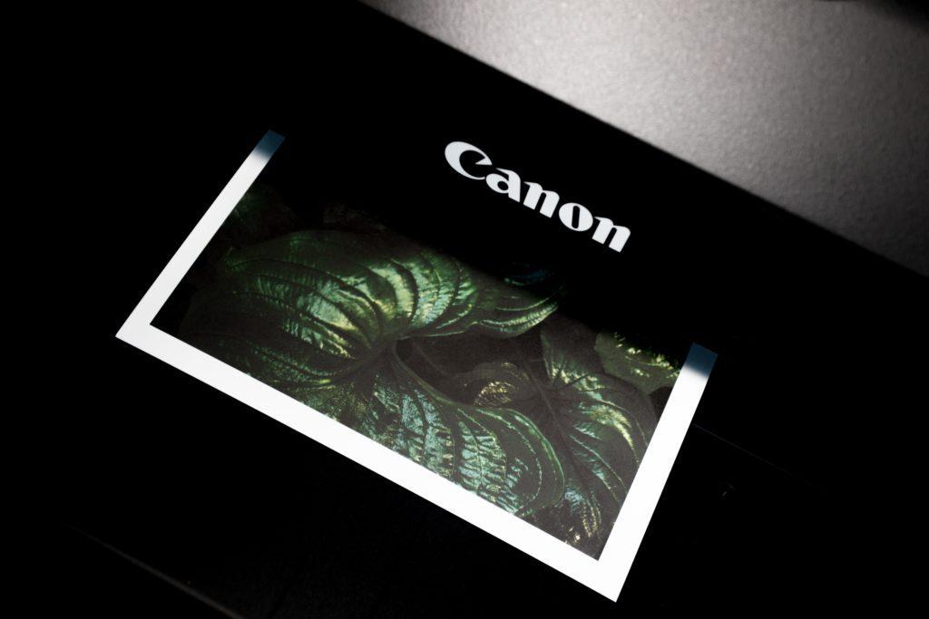 A printer printing an image